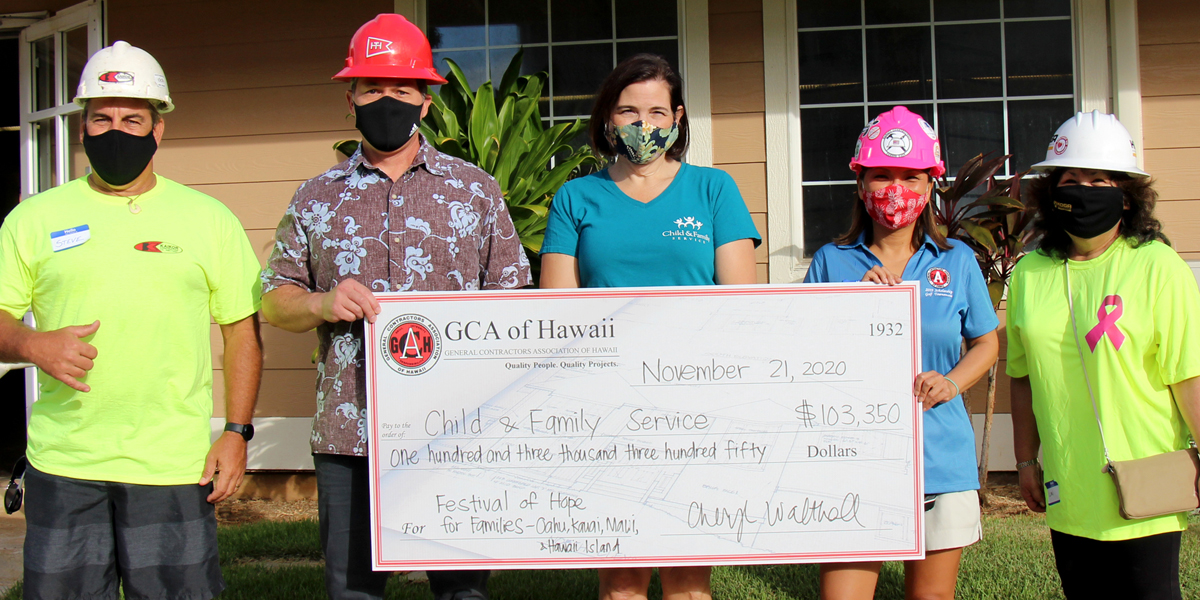 GCA of Hawaii members raise over $100,000 for Child & Family Service