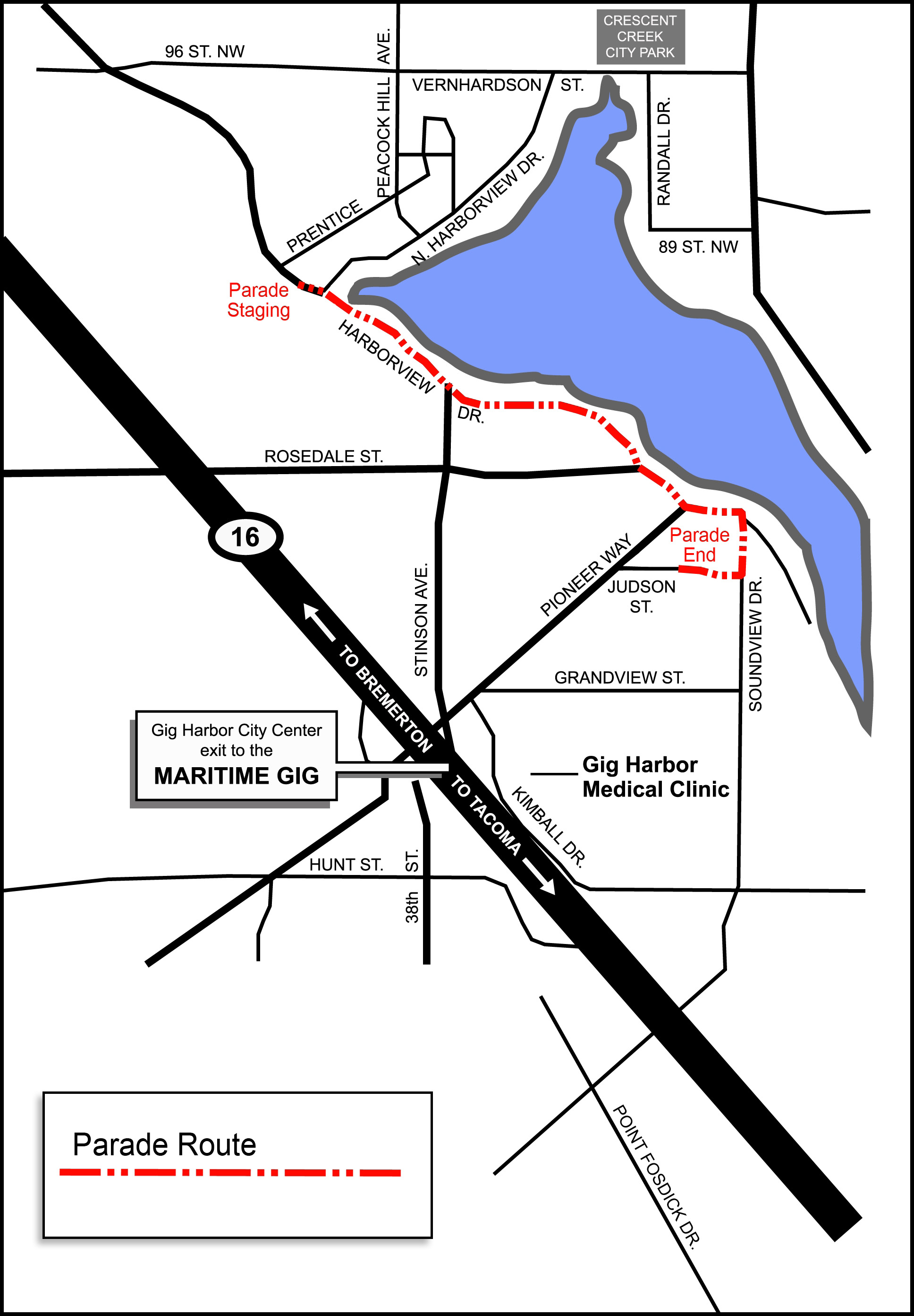 Yo Ho Harbor Grande Parade Map