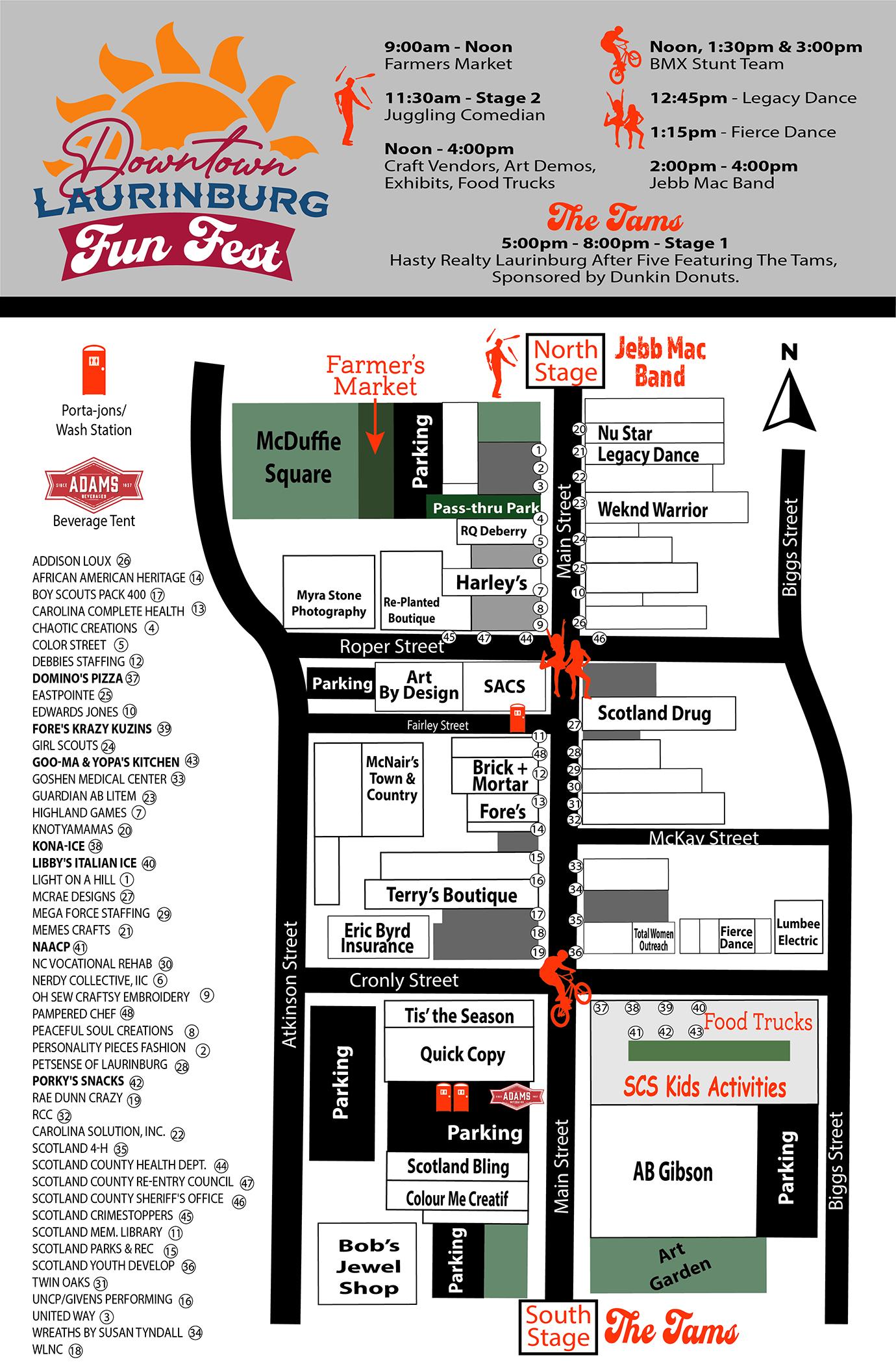 FUN FEST SCHEDULE & MAP