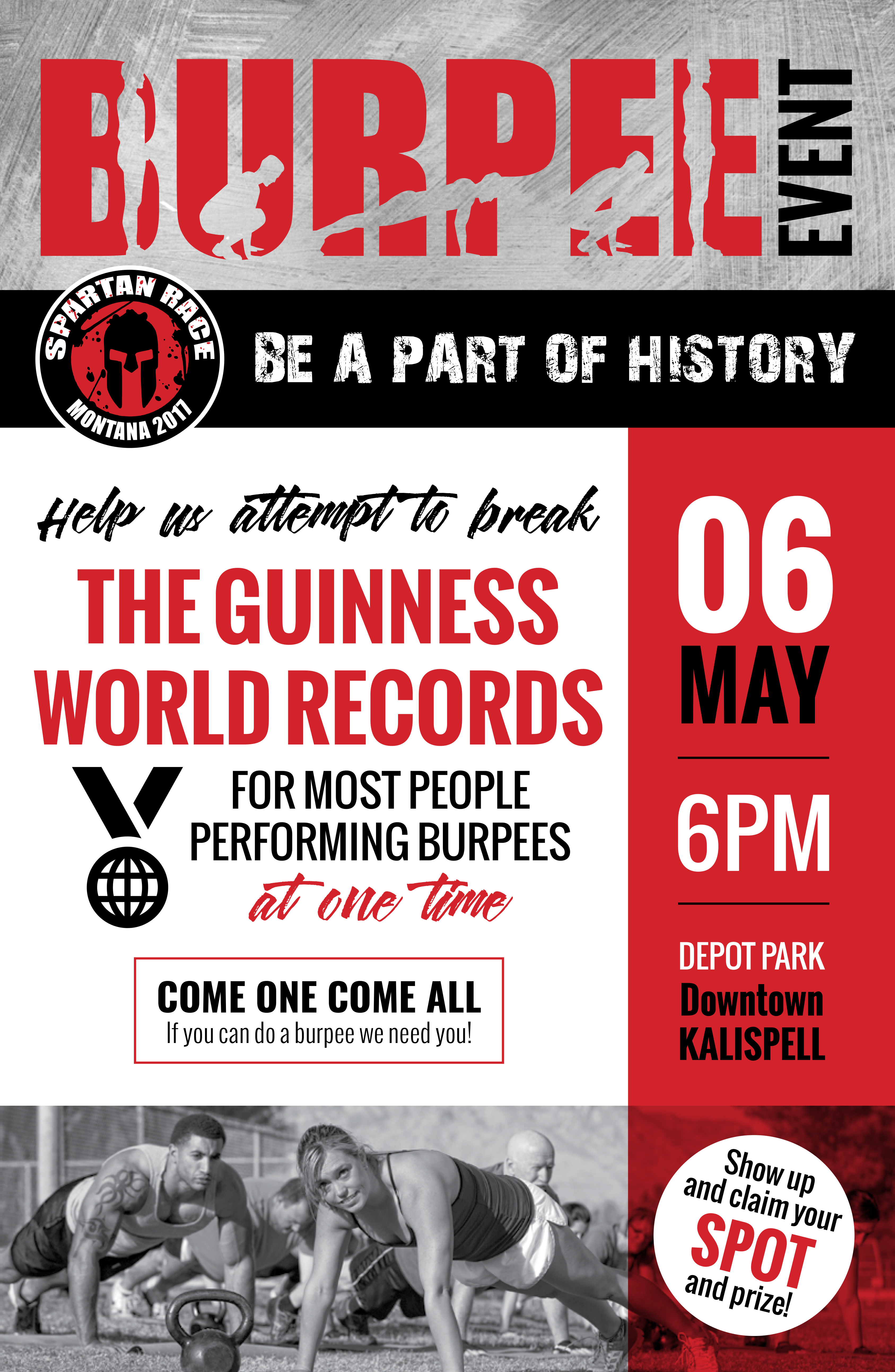 Spartan guinness world record burpee event may 6 2017 for Guinness world record certificate template