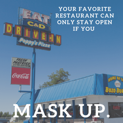 C&D Drive In Mask Up