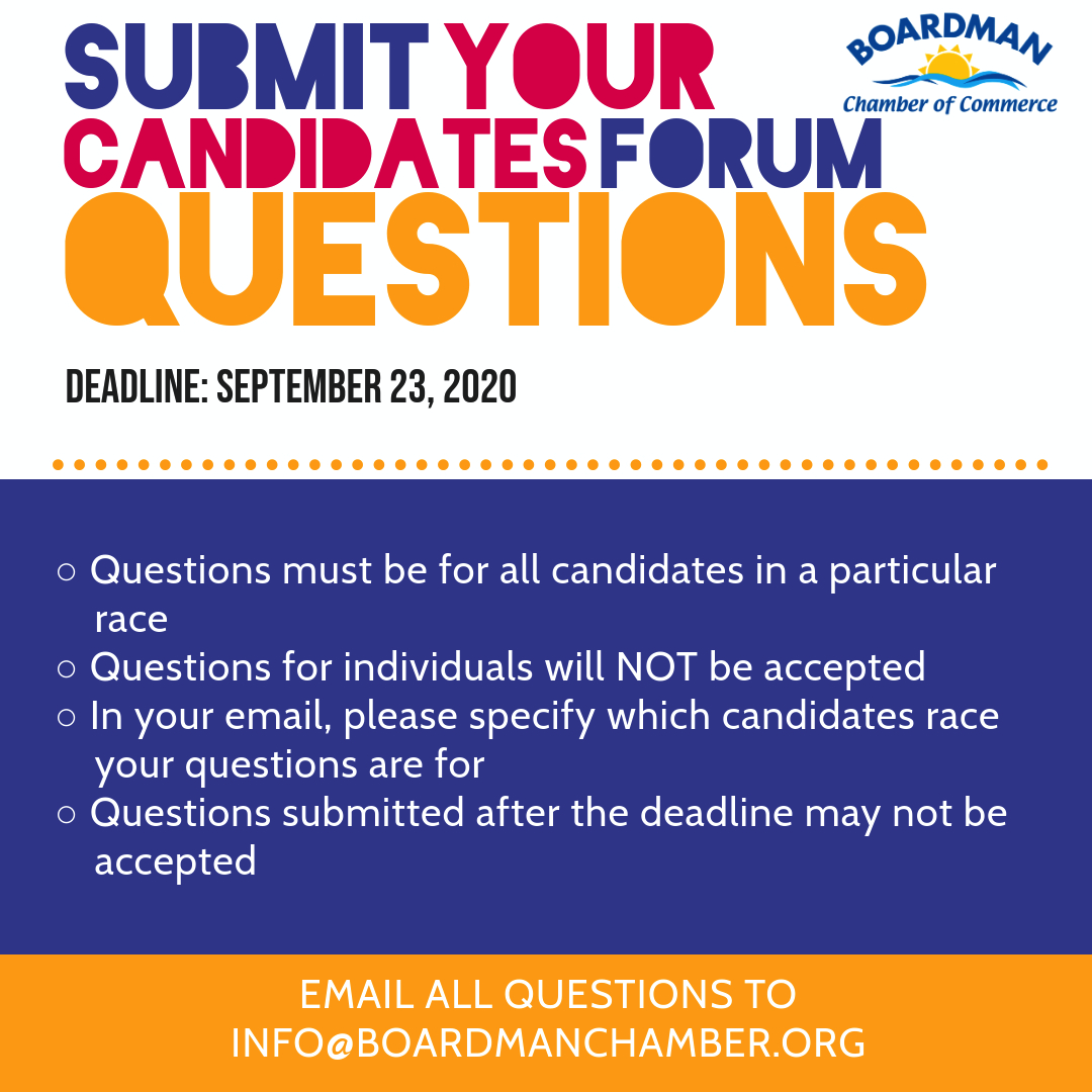 Submit your candidates forum questions