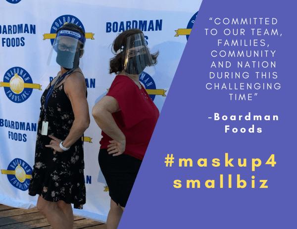 Boardman Foods Masks Up