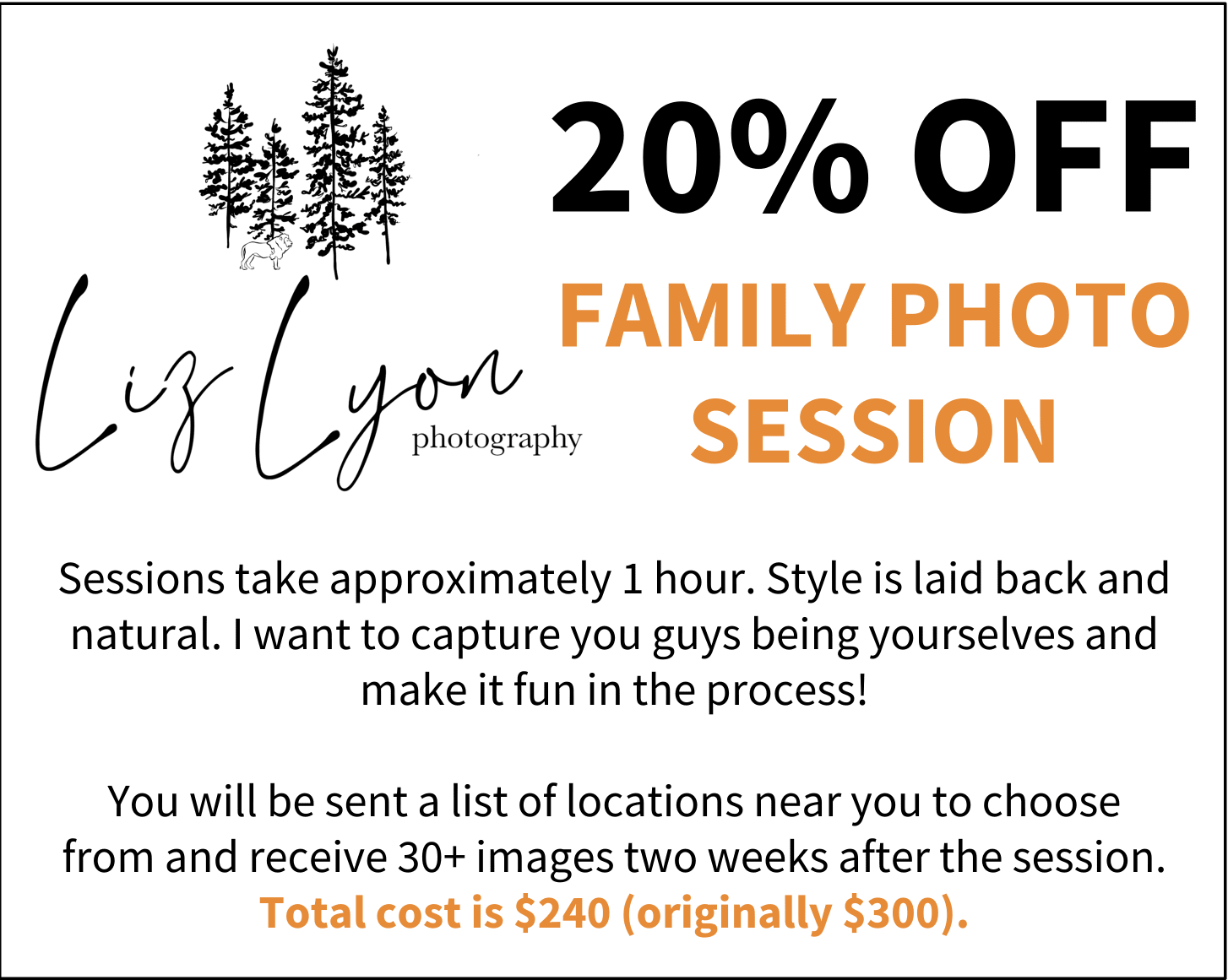 Liz Lyon Photography Discount