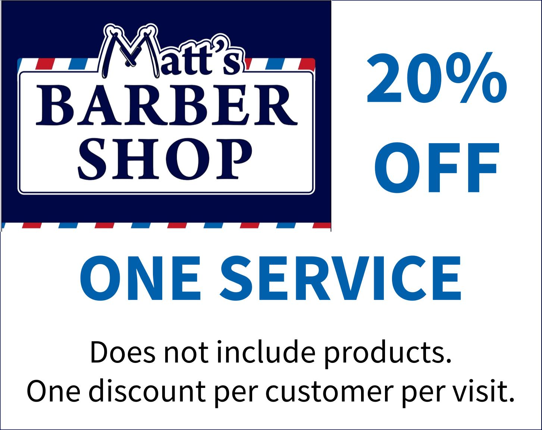 Matts Barber Shop Discount