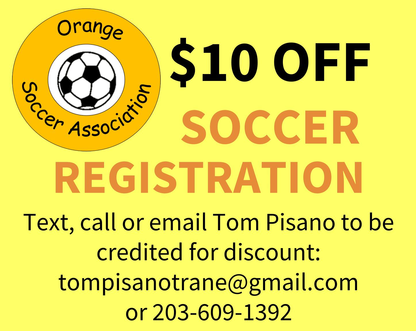 Orange Soccer Association Registration Discount