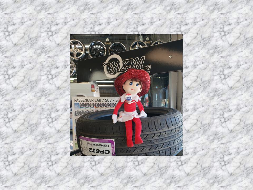 Annie-at-MandM-Tire.png