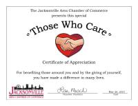 Those Who Care Award Winners
