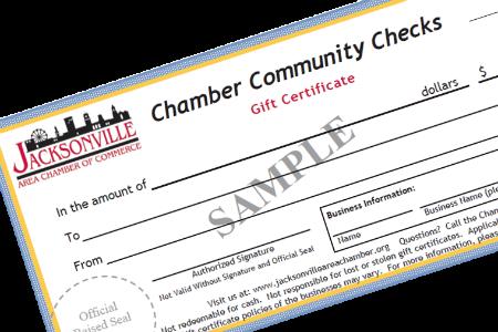 Chamber Checks  -- Nearing the $1,000,000 mark!