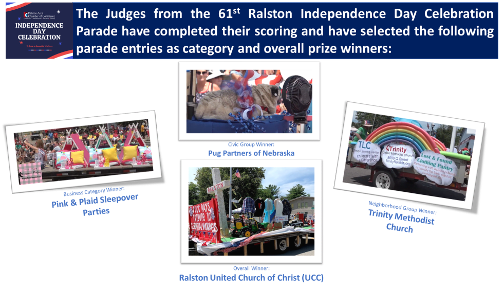 61st Ralston Independence Day Celebration Parade Winners