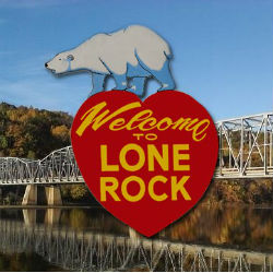 Lone Rock Welcome Sign
