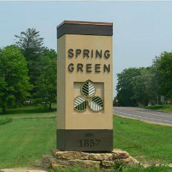 Spring Green Welcome Sign