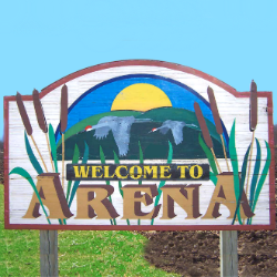 Town of Arena Welcome Sign