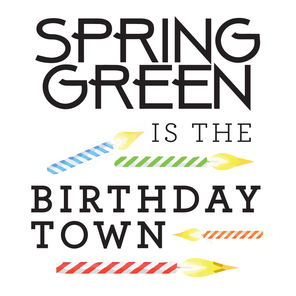 Spring Green Birthday Town