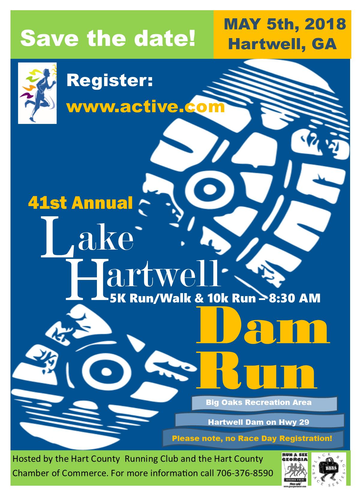 2019 Hartwell Dam Run GA 5K 10K