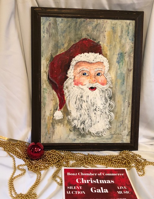 Suzanne Vann donated this beautiful painting for Christmas Gala 2018