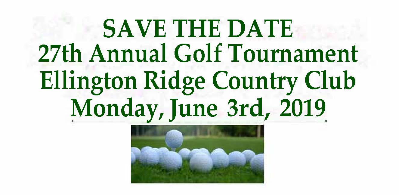 27th Annual Golf Tournament SAVE THE DATE