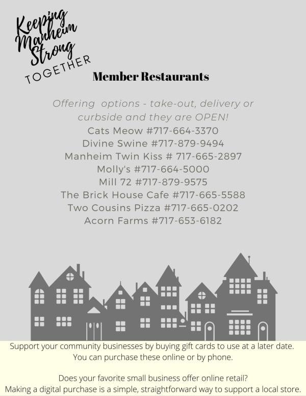 Manheim Restaurant List