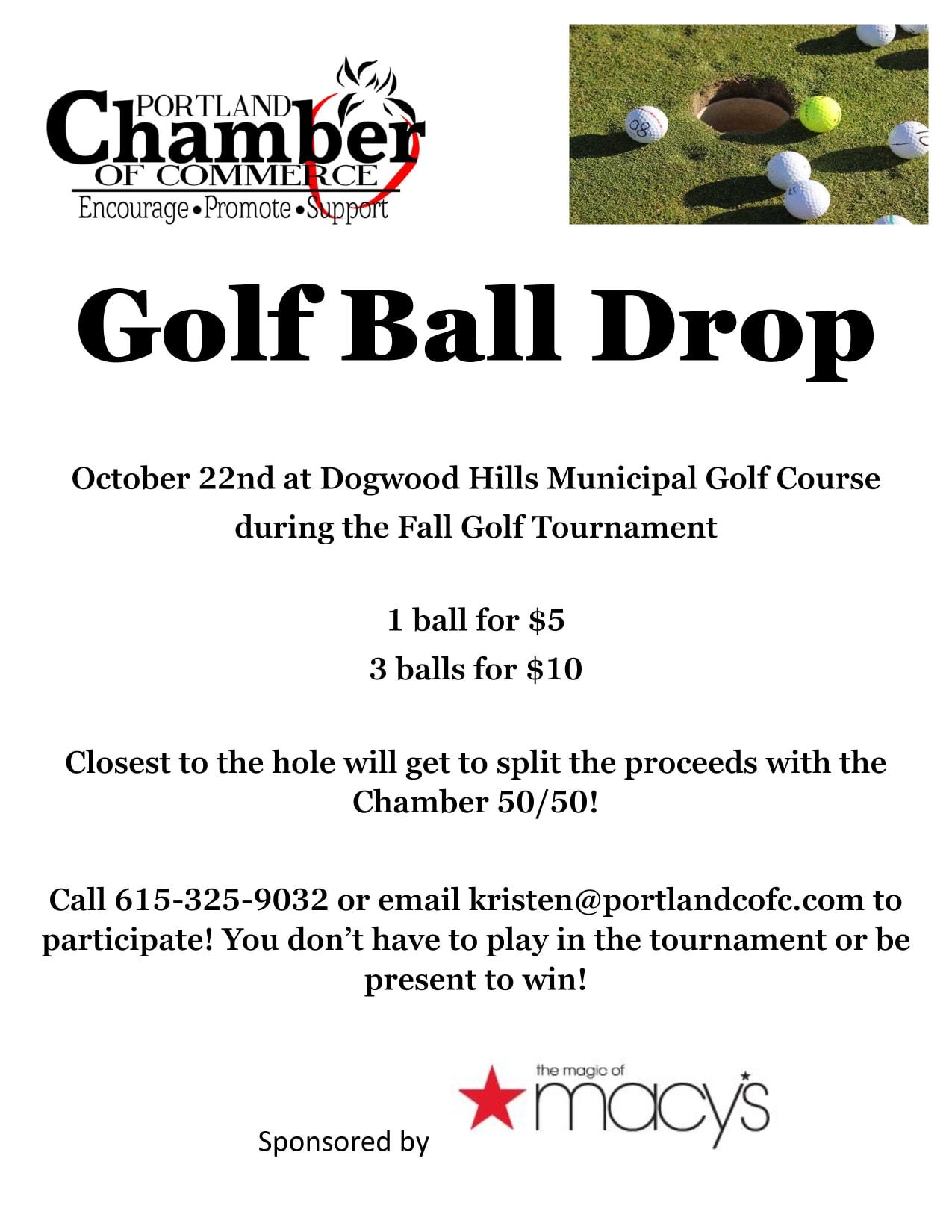 Fall Golf Tournament & Golf Ball Drop