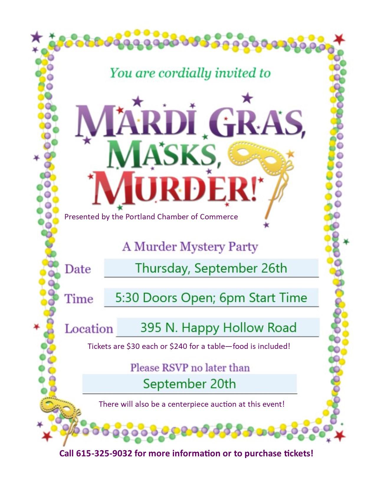 Mardi Gras, Masks & Murder