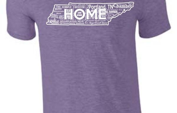 Home T-shirt:  Purple