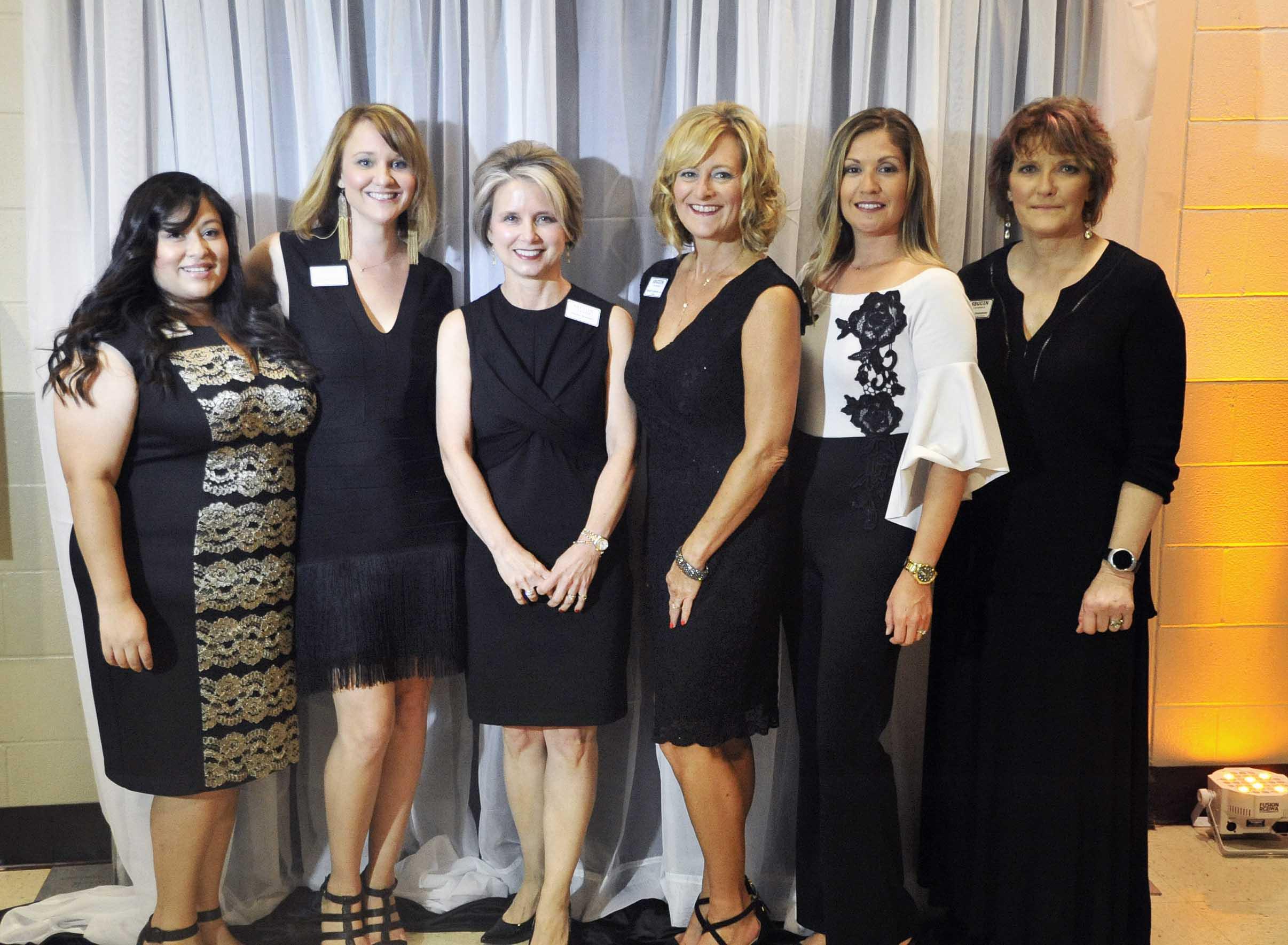 Staff with Board Chair Elaine Bennett