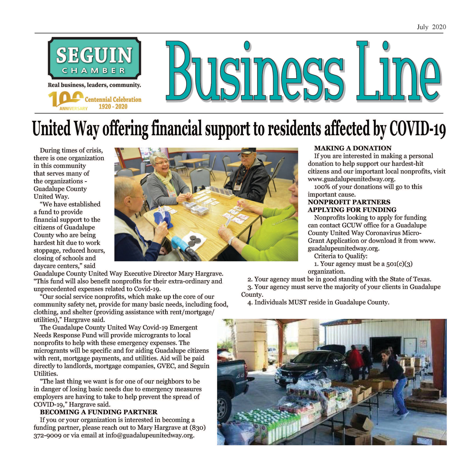 July-Sept. 2020 BusinessLine Newsletter