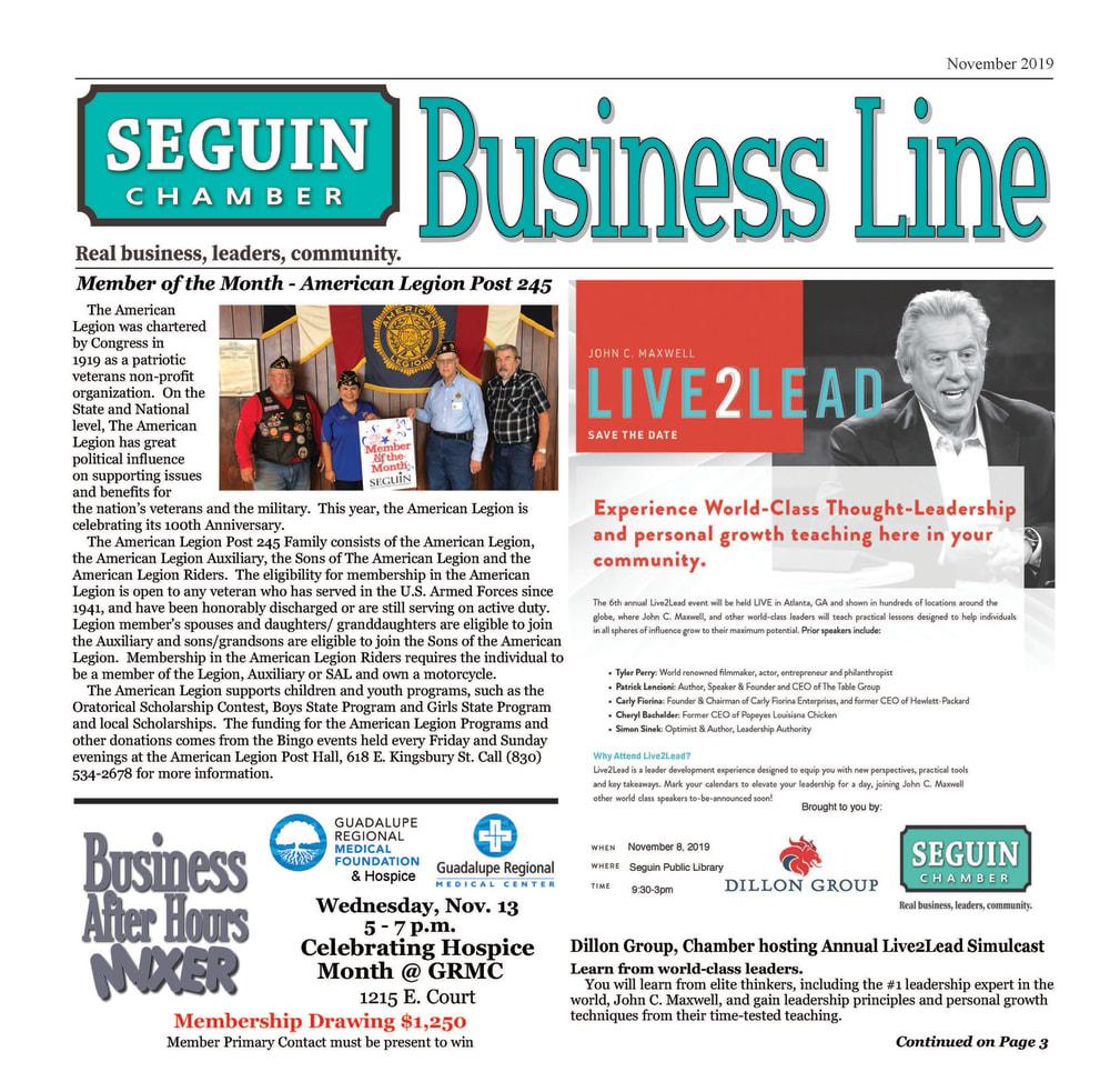 November 2019 BusinessLine Newsletter
