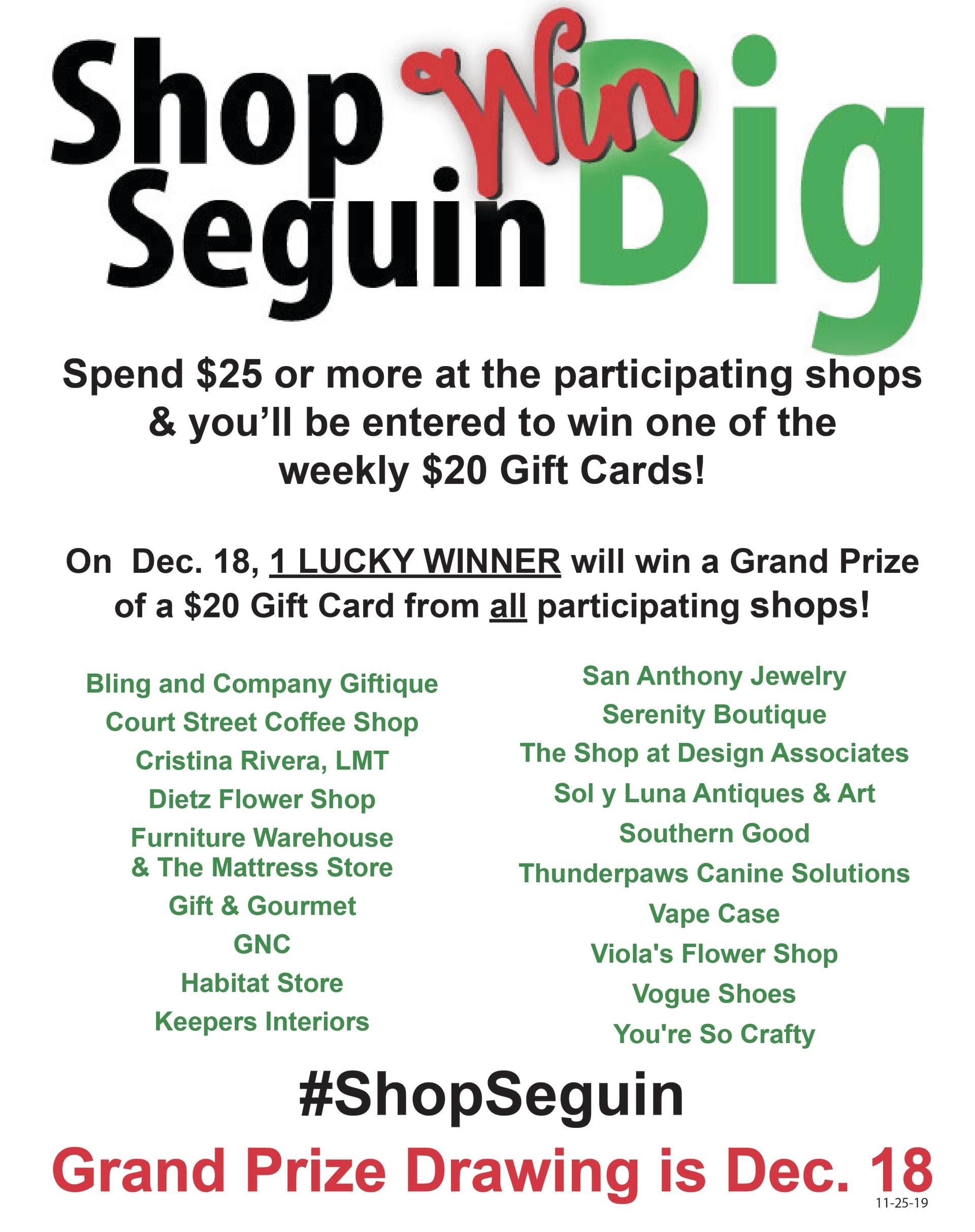 Shop Seguin Win Big