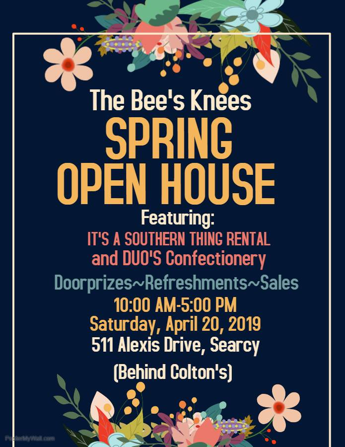 The Bee's Knees Spring Open House April 20 Searcy AR
