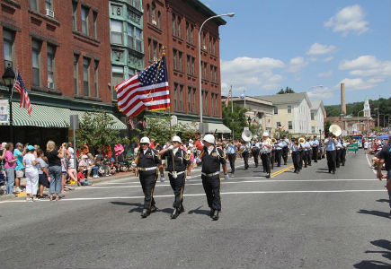 River Rat Parade Marches Down Main street in Athol