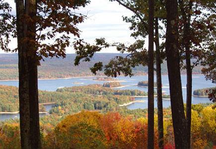 Overlook of the Quabbin Reservoir in New Salem