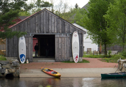 Boathouse on Millers River