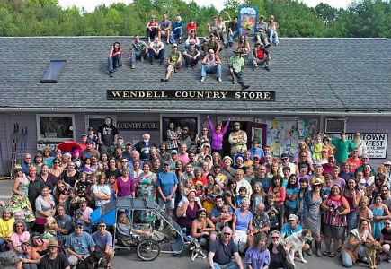 Group Gathers outside Wendell Country Store