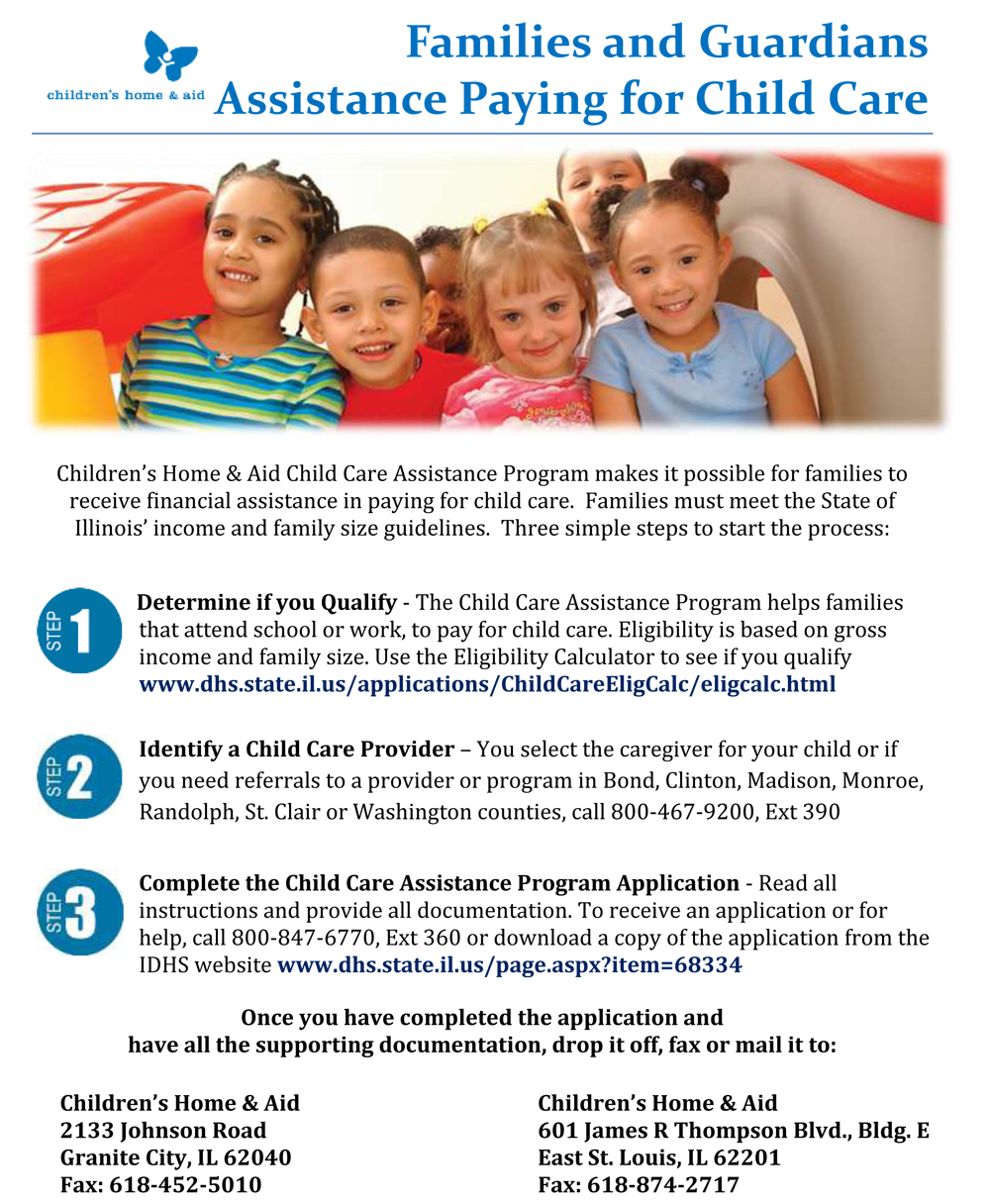 Families & Guardians Assistance Paying for Child Care