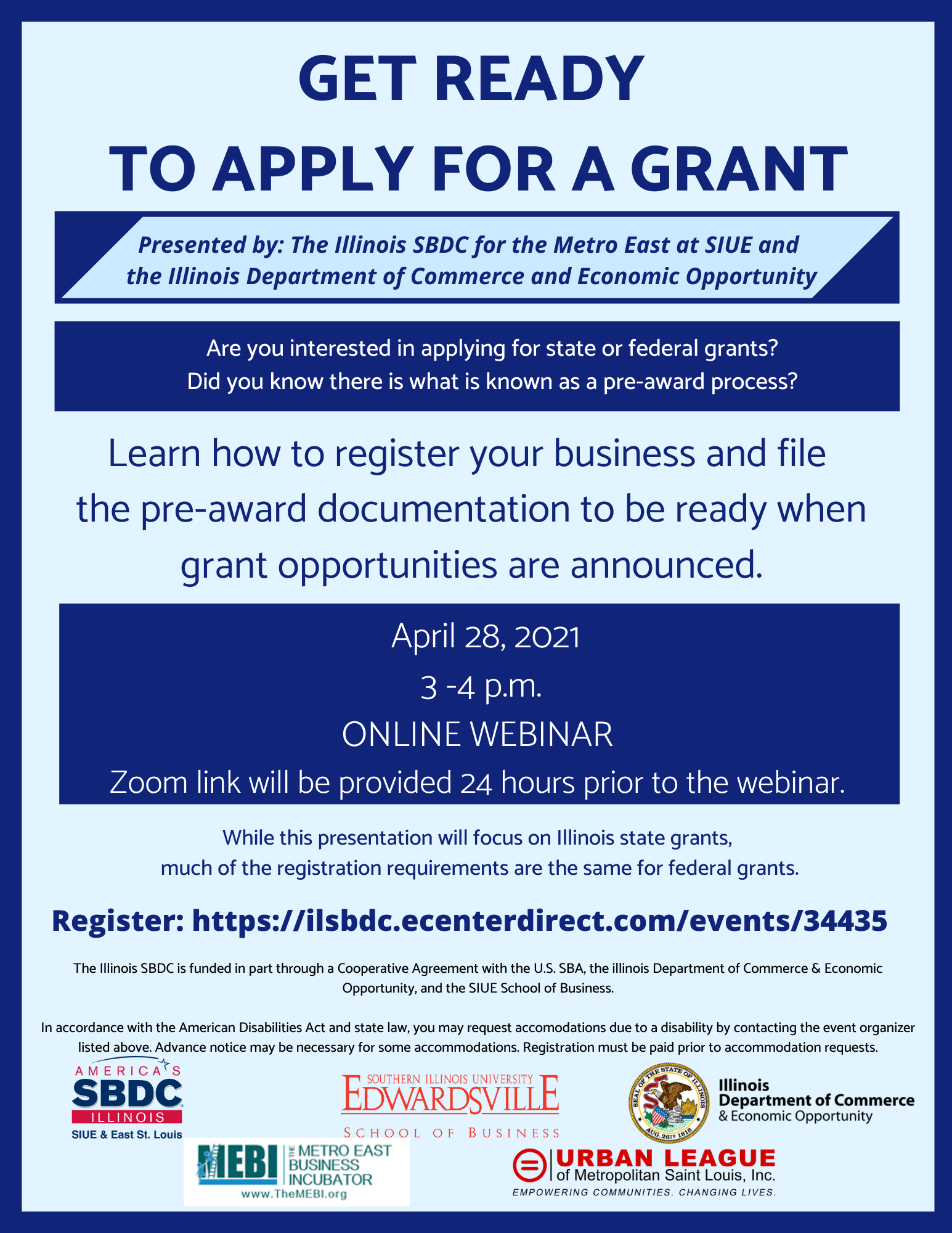 Get Ready to Apply for a Grant