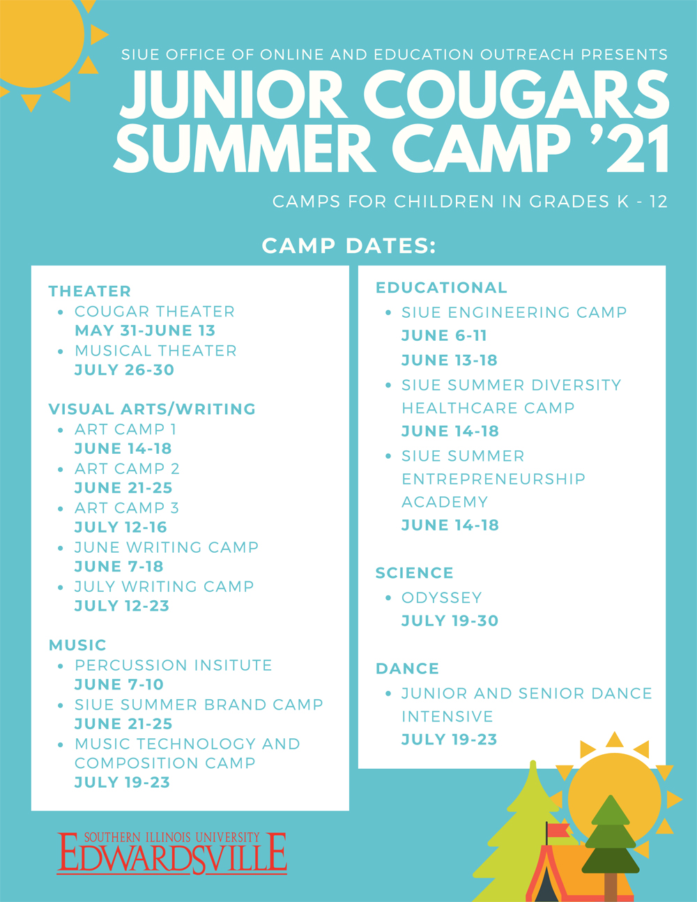 SIUE Summer Camp Flyer