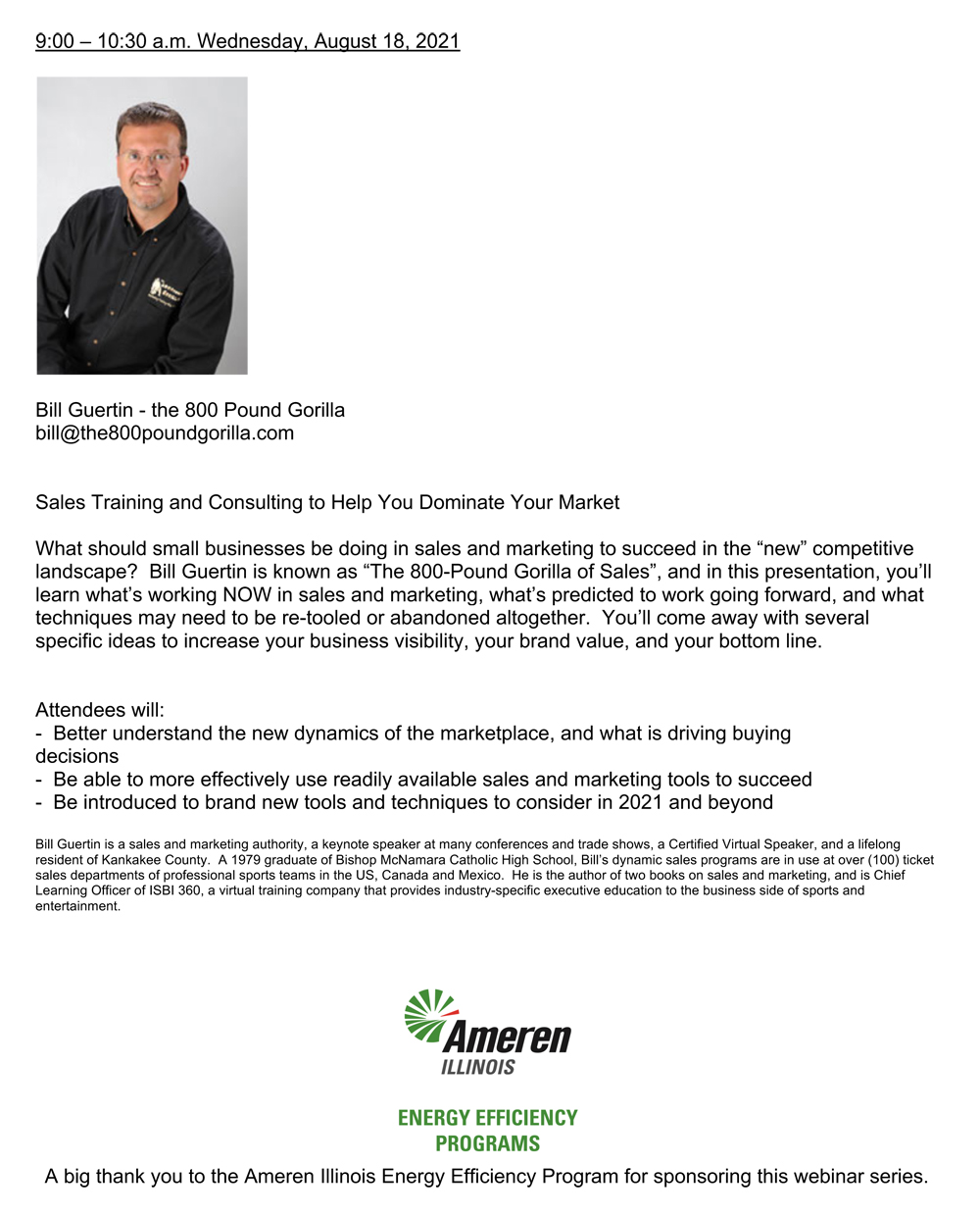 Tools for Success Webinar August 18, 2021