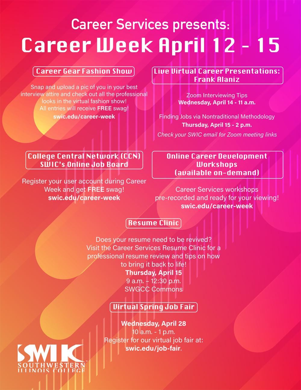SWIC Career Week Flier