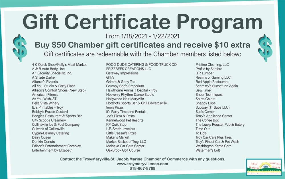 Gift Certificate Program Participants