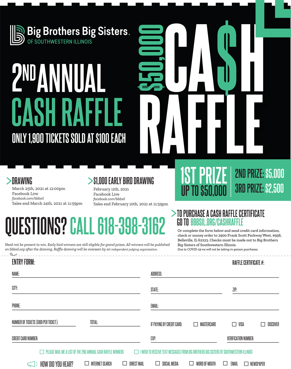 Big Brothers/Big Sisters 2nd Annual Cash Raffle