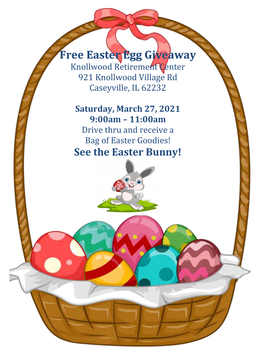 Knollwood Retirement Center Free Easter Egg Giveaway