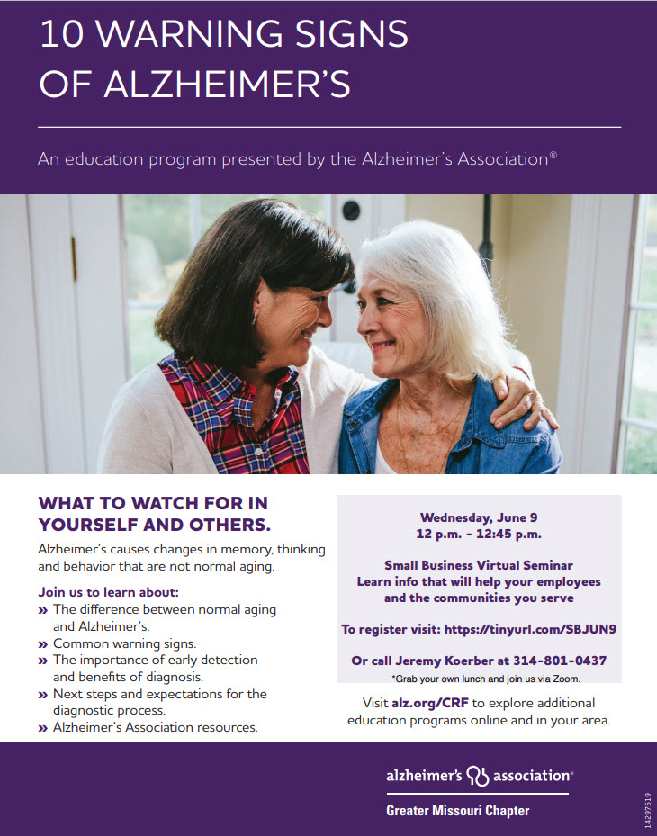 Lunch and Learn Alzheimers