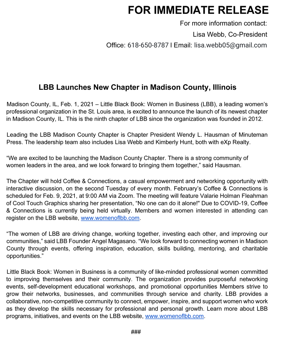 LBB Madison County Launches