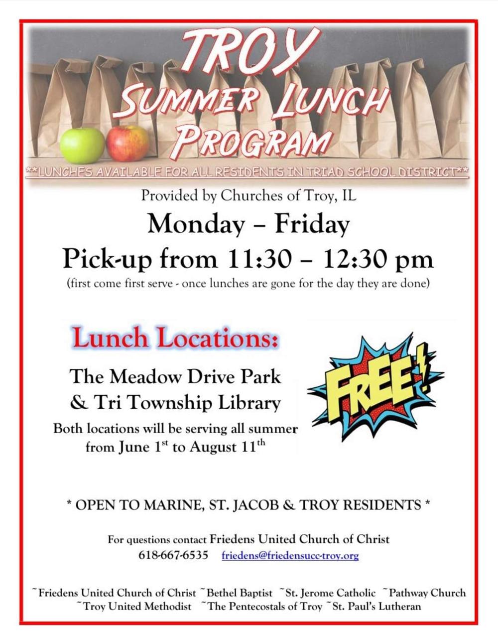 Troy Summer Lunch Program