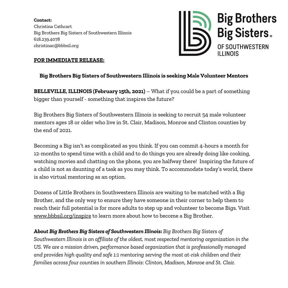 Big Brothers Big Sisters of Southwestern IL Recruitment