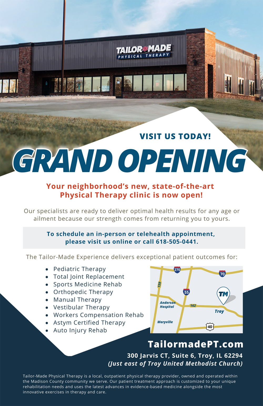 Tailor Made Physical Therapy Grand Opening