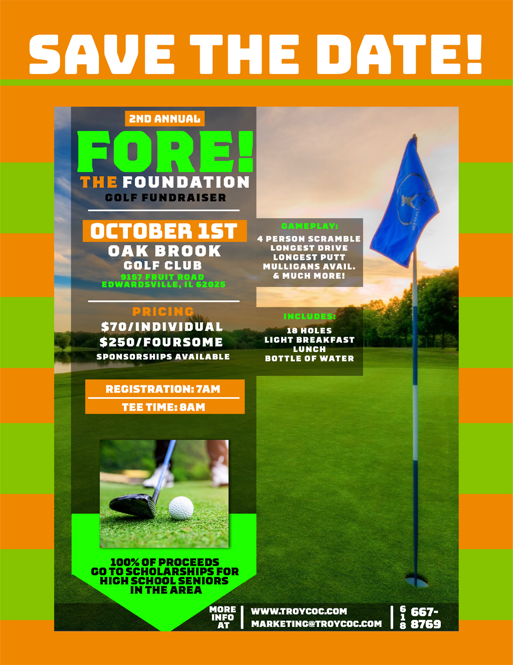 Save the Date Foundation Golf Event