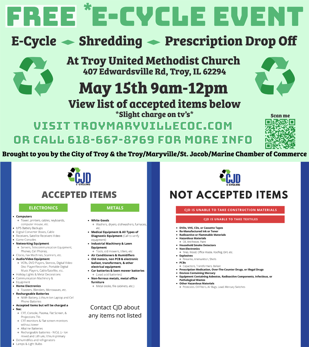 Recycle Event May 15th