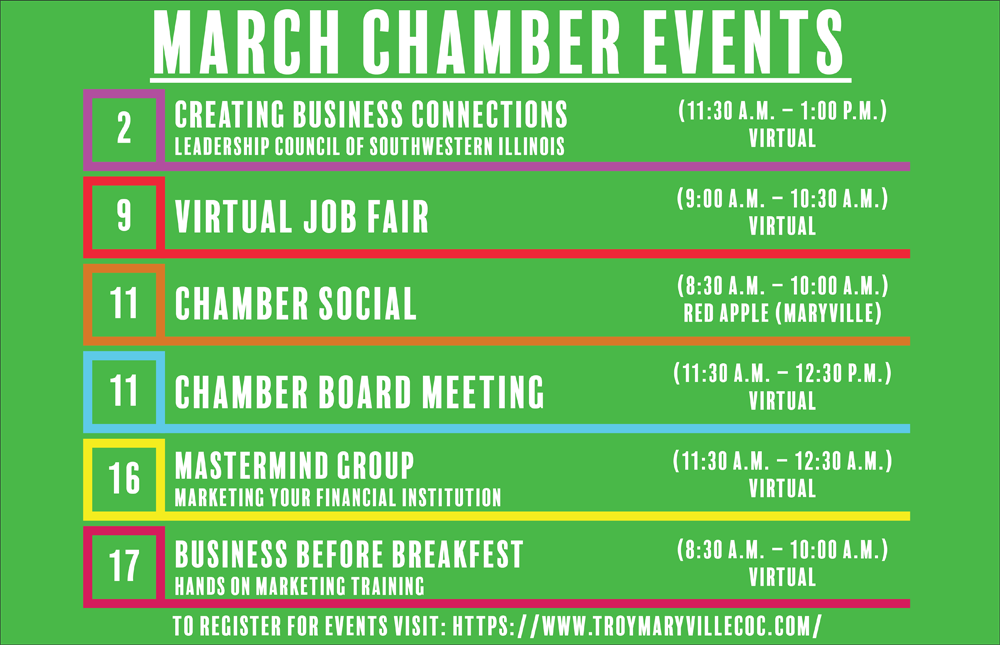March 2021 Chamber Events